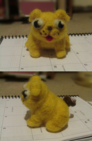 Pugkin-Needlefelting by Ask-thebeeguard