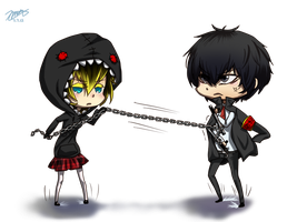 Commission: Izsa and Hibari by xMistyfeatherx