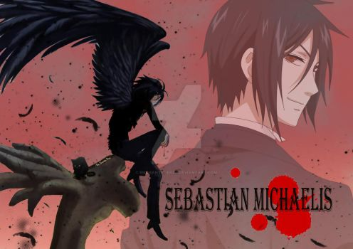 Sebastian michaelis true demon form by enchantic-erza
