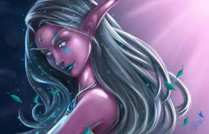 NightElf Portrait by Sorayiel