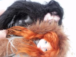 Monster High Game of Thrones Jon Snow n Ygritte by Rach-Hells-Dollhaus