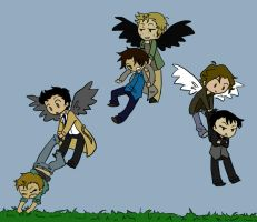 SPN-- Flying by KaruLeonnese