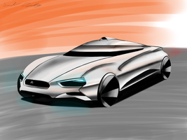 Citroen Eco Coupe Rendering by dyrborgdesign
