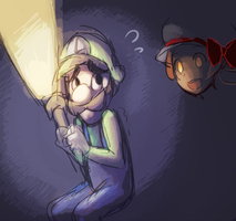 luigi and kotone by raemz-desu