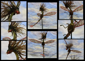 Flygon Plant Sculpture - Different Views
