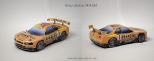 Nissan Skyline GT-R R34 Papercraft + DOWNLOAD by svanced
