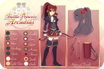 Battle Princess of Arcadias AU Ref by LemonPoppySeedMuffin