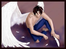 Heero Yuy with wings. by Amaranthia