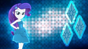 Equestria Girls Rarity Wallpaper by Macgrubor