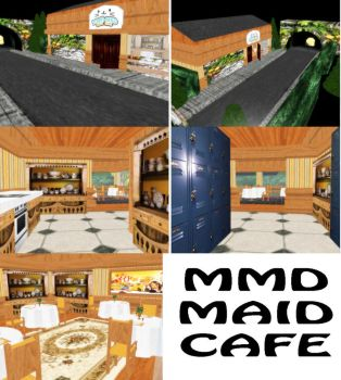 MMD Maid Cafe Stage Download by SachiShirakawa
