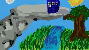 Doctor Who Painting by spiritualraven