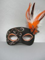 Monarch leather masquerade mask by maskedzone
