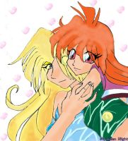 Passion: Lina and Gourry by PlutonianNight