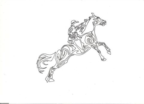 rodeo tribal tattoo design by countrygirllover