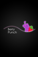 Berry Punch Glow Line iPod/iPhone Wallpaper by AlphaMuppet
