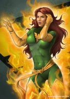 Jean Grey / Phoenix by Almayer