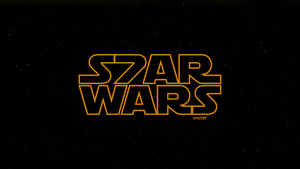 Star Wars: Episode VII Space New Logo by elclon