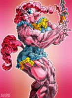 Muscle Pinkie Pie by DAVIDE76