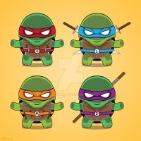 Teenage Mutant Ninja Turtles T-shirt design by LAckas