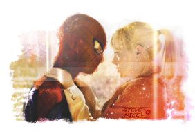 Spidey and Gwen by Steve-Nice