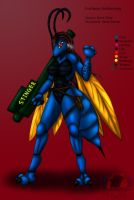 Hawk Wasp girl (reference) by Snowfyre