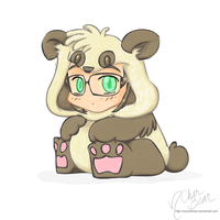 Audi: Chibi PapaBear Panda -color- by mscherbear