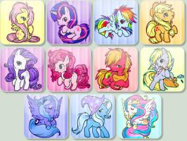My Little Pony Free avatar pack by kero444