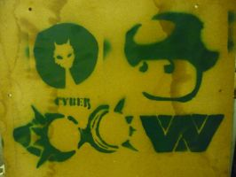 some of my selfmade stencils by cytherina