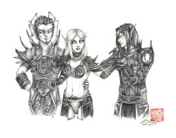 Fanart Commission - Blood Elves by fictograph