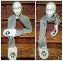 Paw scarf by CalicoSarah