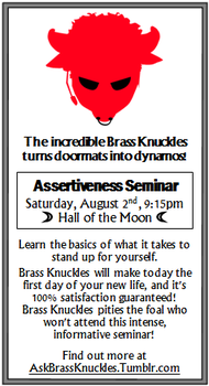 Iron Will / Brass Knuckles Flyer for Bronycon by RiftwingDesigns
