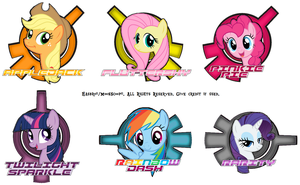 Mane6 Face Badge Group by SuperDigiFlow