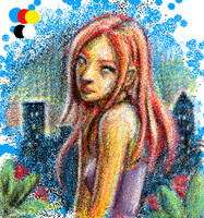 Pointilism Anime by Dont-lose-heart