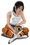 Chell and GLaDOS core by Jaimep