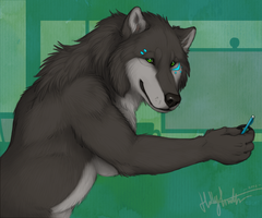 Working Wolfbear by CunningFox