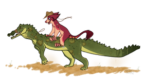 Crocodile Riding by VintageIceCream