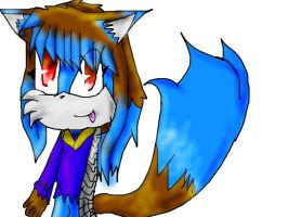 Lunessa the wolf by Uxiethecat