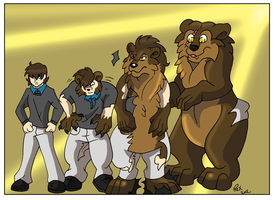 Commission Bear Stage Transformation by Rex-equinox