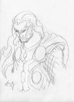 Thor sketch by 6-fingers