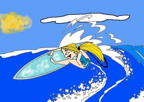 Brianna Surfing by TDIgurl128
