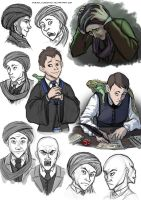 Quirrell sketches by FriendlyChestnut