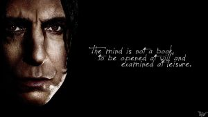 Harry Potter Wallpaper : Snape Quote! v4 by TheLadyAvatar