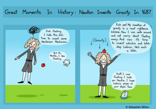 Isaac Newton Decides to Invent Gravity by sebreg