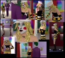 Sims-Bees new wings and makeup by insectikette