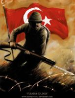 TURKISH SOLDIER, 1915 by mertyavasca