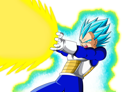 Vegeta Ssj Blue Final Flash v.1(Manga) by Luciano160