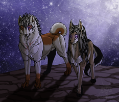 Father and son - Oniisan and Seth by Barguest