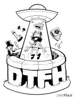 Duncan Trussell Family Hour - Tshirt Design (Inks) by plaidklaus