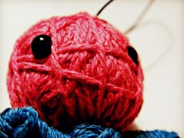 Pink And blue Voodoo doll by RainbowCartilage