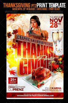 Thanksgiving 2014 Flyer PSD by AudioNeptune